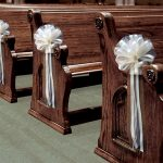 Decorations For Pews For A Church Wedding 6 Large Ivory Tulle Pull Bows Wedding Pew Decorations Church Chair Aisle Reception Decor decorations for pews for a church wedding|guidedecor.com