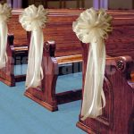 DIY Pew Decorations for Weddings Ideas 6 Large Ivory Cream Tulle Pew Bows Wedding Decoration Idealpin