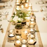 Diy Table Decorations Wedding Military Winter Wedding Devils Thumb Ranch Diy Table Center Pieces Mason Jars Candles Assorted Sizes Romantic Warm Lighting diy table decorations wedding guidedecor.com