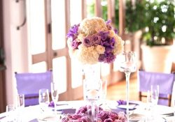 Gold And Purple Wedding Decor Simple Purple Table Settings Good Wedding Ideas gold and purple wedding decor|guidedecor.com
