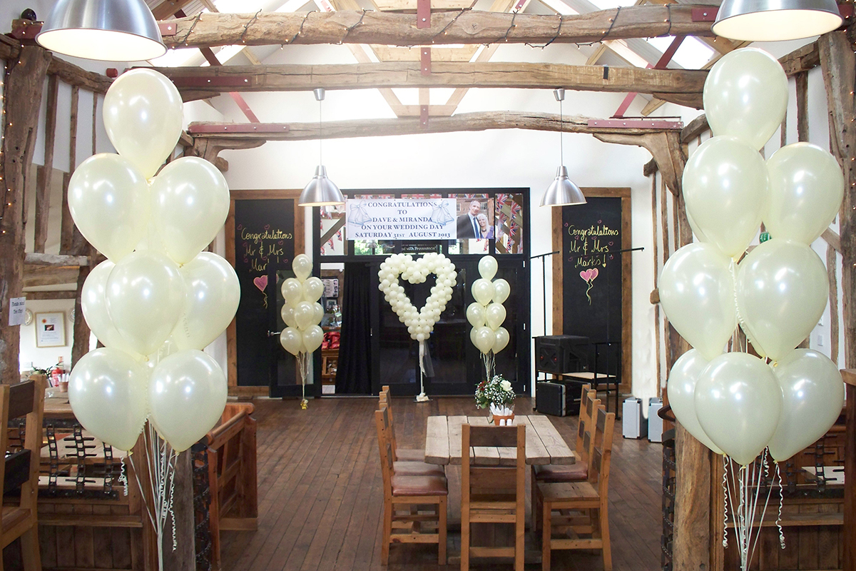 How to Cheer Up Your Reception Venue with Wedding Balloon Decor Wedding Balloons Ipswich Suffolk The Party Balloon Company