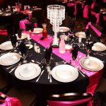 Pink And Black Wedding Decorations For The Reception Tableset pink and black wedding decorations for the reception|guidedecor.com