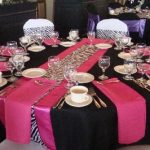 Pink And Black Wedding Decorations For The Reception Zebra pink and black wedding decorations for the reception|guidedecor.com