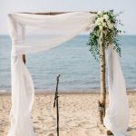 Simple Wedding Arch Decorations Simple White Beach Wedding Arch Ideas With Greenery simple wedding arch decorations|guidedecor.com