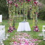 Simple Wedding Arch Decorations Stunning Outdoor Floral And Fabric Wedding Altar And Arch Ideas simple wedding arch decorations|guidedecor.com