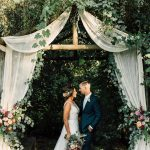 Simple Wedding Arch Decorations Summer Wedding Arch Ideas With Fabric And Eucalyptus Garland simple wedding arch decorations|guidedecor.com