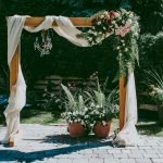Simple Wedding Arch Decorations With Fabric And Flowers Wedding Arch Diy 1 simple wedding arch decorations|guidedecor.com