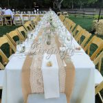 Tablecloth Decorations For Wedding 10pcs Rustic Wedding Decor Hessian Burlap Table Runner With Knitted Lace 275 X 30cm Tablecloth Banquet tablecloth decorations for wedding|guidedecor.com
