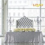 Tablecloth Decorations For Wedding 14 Colors 225cmx330cm Glitter Silver Sequin Tablecloth 90x132 Inches Wedding Tablecloth Decoration Rectangle Sequin Table Cloth tablecloth decorations for wedding|guidedecor.com