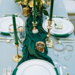 Teal Green Wedding Decorations Emerald Gold Wedding Tablescape teal green wedding decorations|guidedecor.com