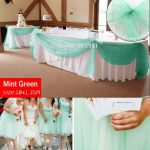 Teal Green Wedding Decorations Promotion Mint Green 10m 1 35m Sheer Organza Swag Fabric Home Wedding Decoration Organza Fabric Table teal green wedding decorations|guidedecor.com