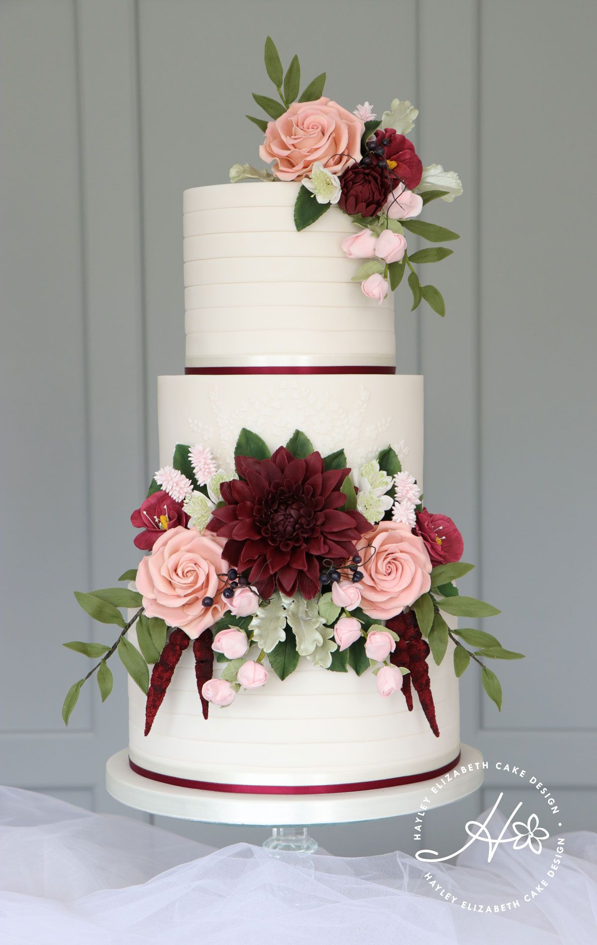 The Elegance Burgundy Wedding Decorations 35 Burgundy Wedding Cakes On Your Big Day Chicwedd