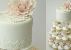 Wedding Cake Pearl Decorations Vintage Pearl Wedding Cupcakes By Cupcake Elegance wedding cake pearl decorations|guidedecor.com