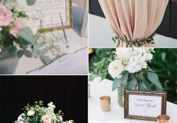 Wedding Table Decor Ideas Chic Wedding Guest Book Sign In Table Decoration Ideas For 2018 wedding table decor ideas|guidedecor.com