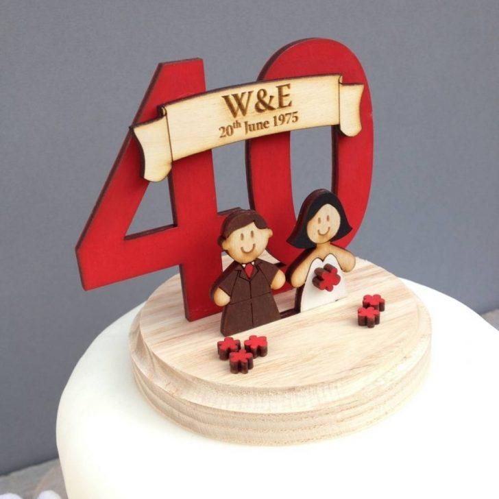 40th Wedding Anniversary Cake Topper Delicious Cake Recipe